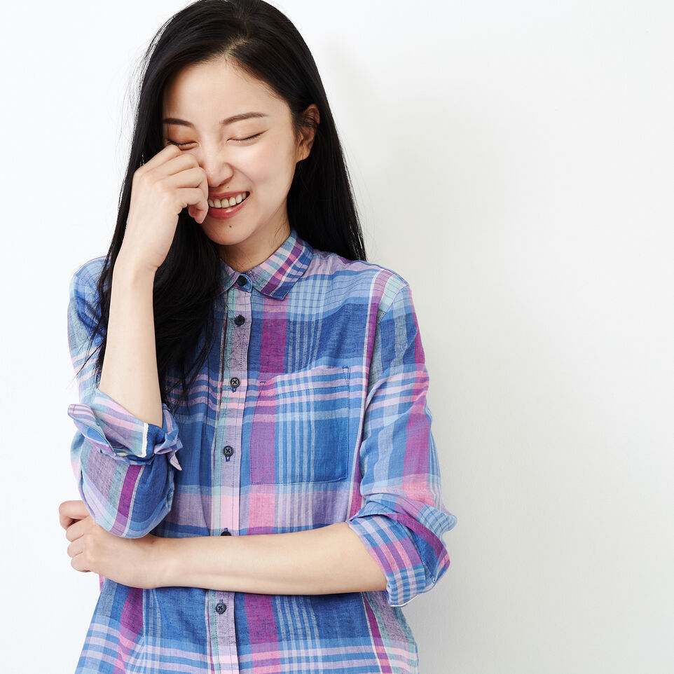 Roots-undefined-Relaxed Plaid Shirt-undefined-E