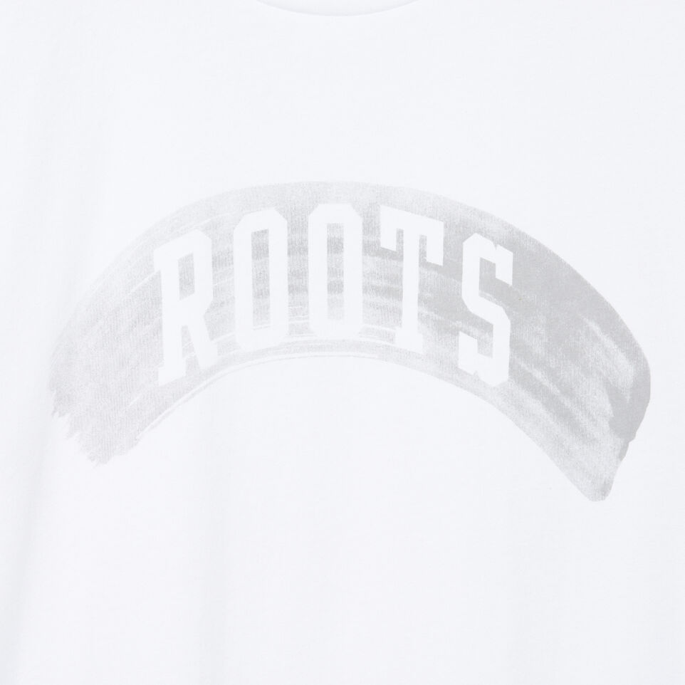 Roots-New For July Men-Mens Brushed Arch T-shirt-Crisp White-D