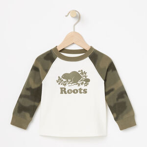 Roots-Kids Baby-Baby Blurred Camo Top-Vintage White-A