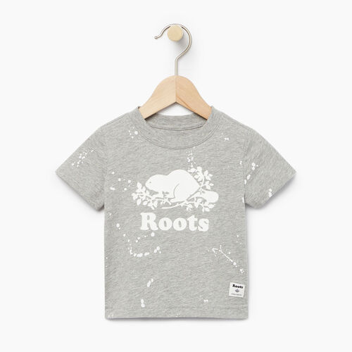 Roots-Clearance Baby-Baby Splatter Aop T-shirt-Grey Mix-A