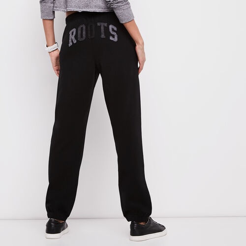 Roots-Women Categories-Roots Boyfriend Sweatpant-Black-A