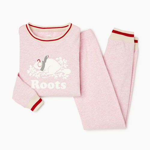 Roots-Kids Girls-Girls Buddy Pj Set-Fragrant Lilac Mix-A