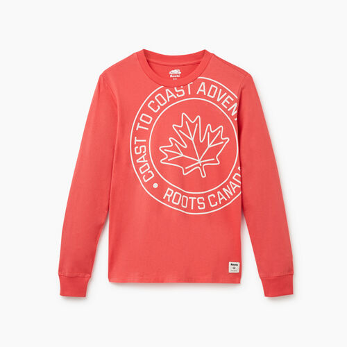 Roots-Women New Arrivals-Womens Coastal Long Sleeve T-shirt-Raspberry-A