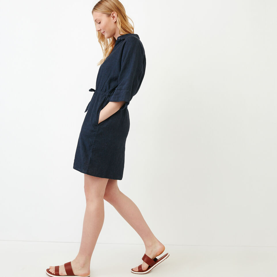 Roots-Women Our Favourite New Arrivals-Weymouth Dress-Indigo-C