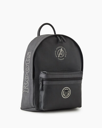 Roots-New For This Month Shop By Character-Avengers Black Panther Leather Backpack-Black-A