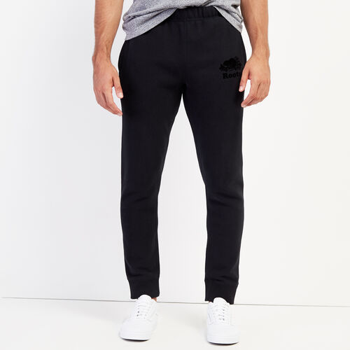 Roots-Men Bottoms-Tonal Park Slim Sweatpant-Black-A