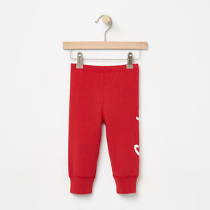 Roots-Kids Canada Collection-Baby Heritage Canada Cozy Legging-Sage Red-A