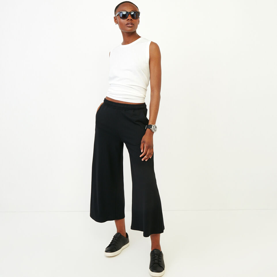 Roots-Women Our Favourite New Arrivals-Summerside Culotte-Black-B