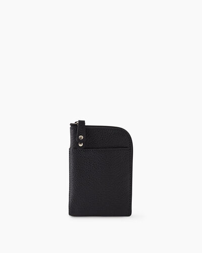 Roots-Leather New Arrivals-Passport Phone Pouch Cervino-Black-A