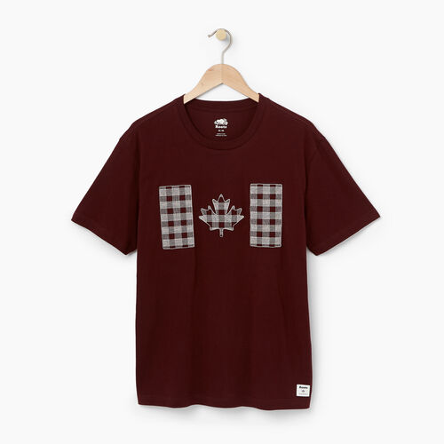 Roots-Winter Sale Tops-Mens National Tartan T-shirt-Crimson-A