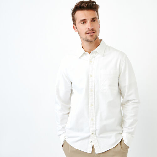 Roots-Men Shirts & Polos-Napanee Oxford Shirt-Ivory-A