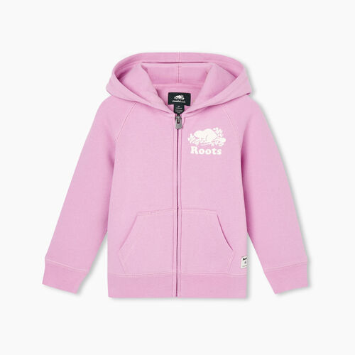 Roots-Kids Tops-Toddler Original Full Zip Hoody-Orchid-A