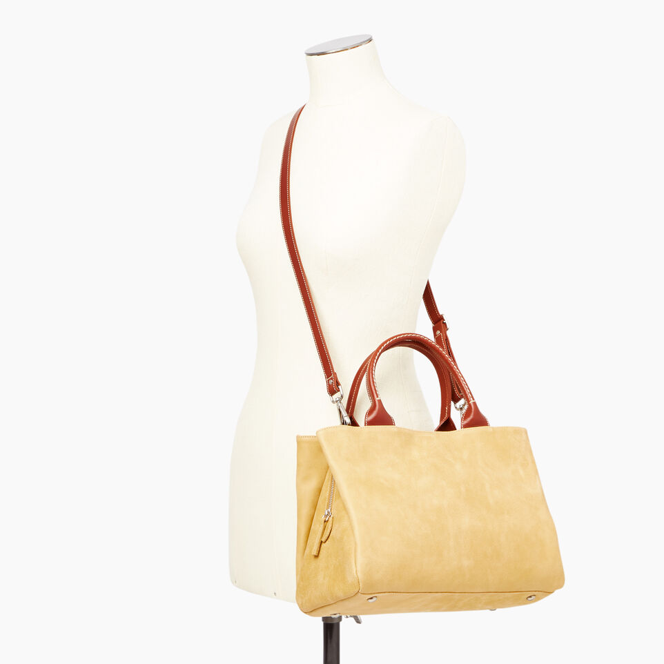 Roots-Leather  Handcrafted By Us Categories-Mont Royal Bag-Medallion/oak-B