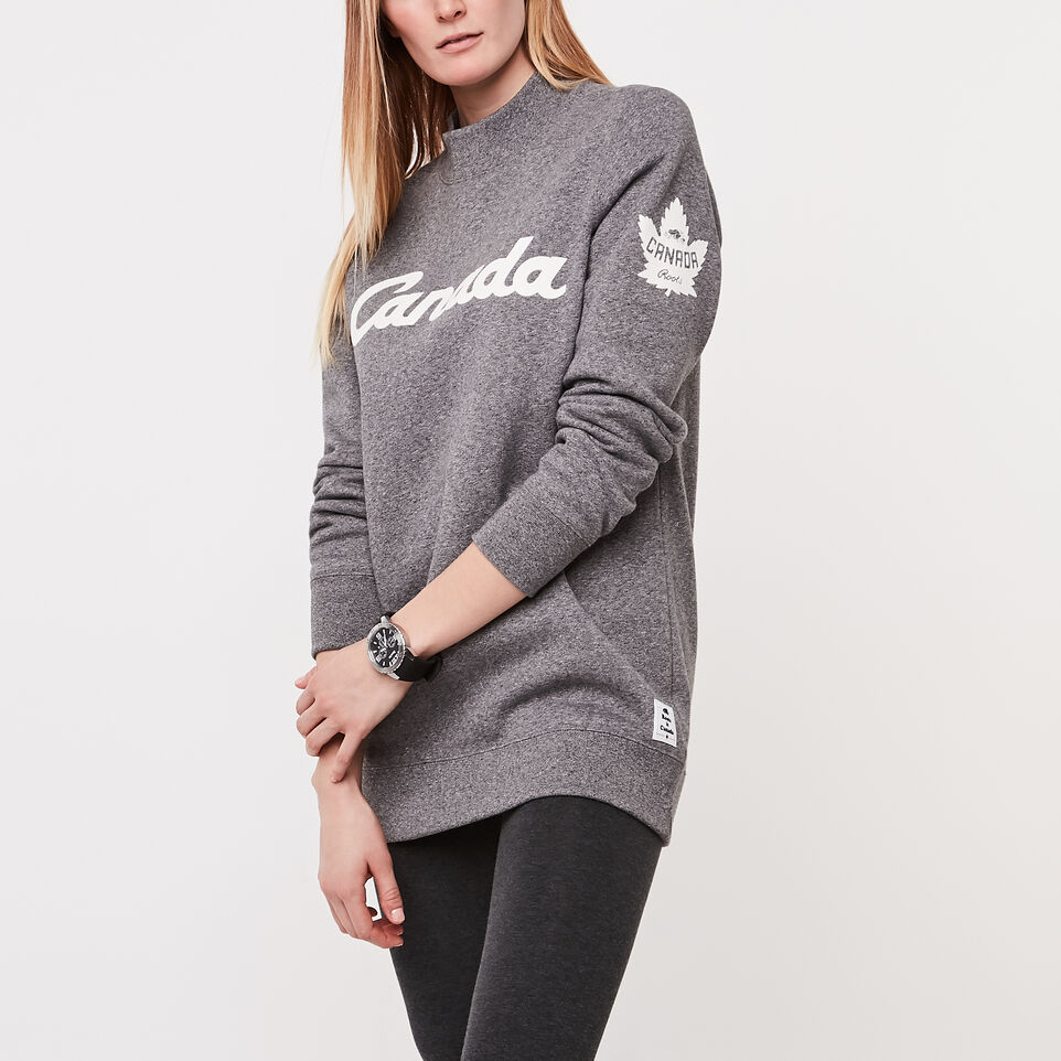 Roots-undefined-Womens Heritage Script Crewneck Sweatshirt-undefined-A