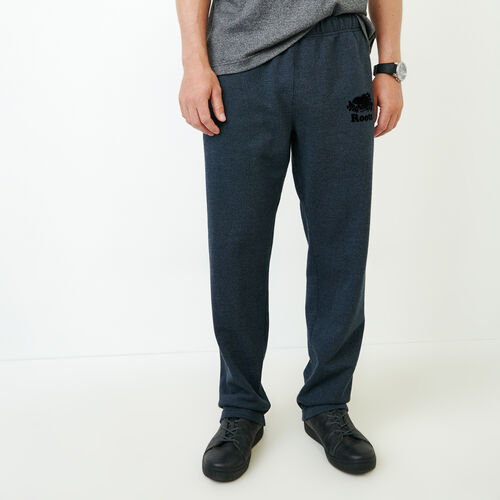 Roots-Men Bottoms-Heritage Sweatpant-Navy Blazer Pepper-A