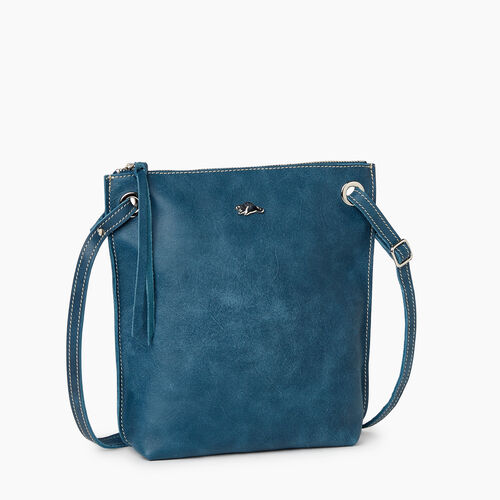 Roots-Leather Handbags-Festival Bag Tribe-Teal Green-A