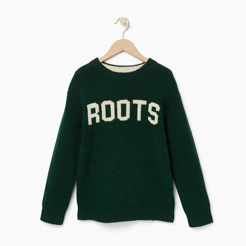 Roots-Winter Sale Boys-Boys Vault Crew Sweater-Park Green-A