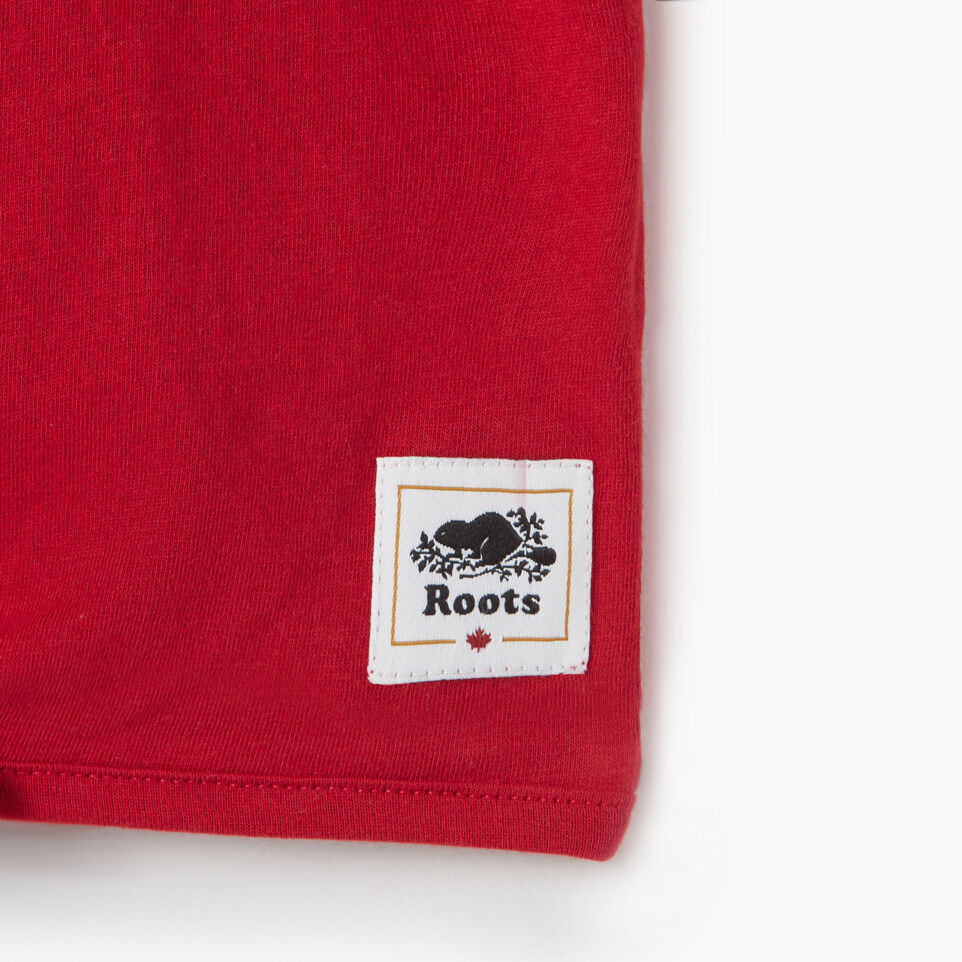 Roots-Kids Canada Collection-Toddler Canada Tie T-shirt-Sage Red-D