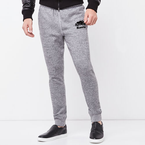 Roots-New For April Men-Roots Salt and Pepper Park Slim Sweatpant-Salt & Pepper-A