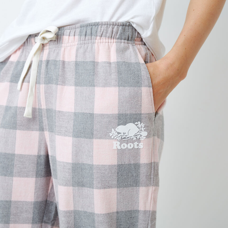 Roots-New For December Today Only: 40% Off Park Plaid Collection-Inglenook Lounge Pant-Pink Mix-E