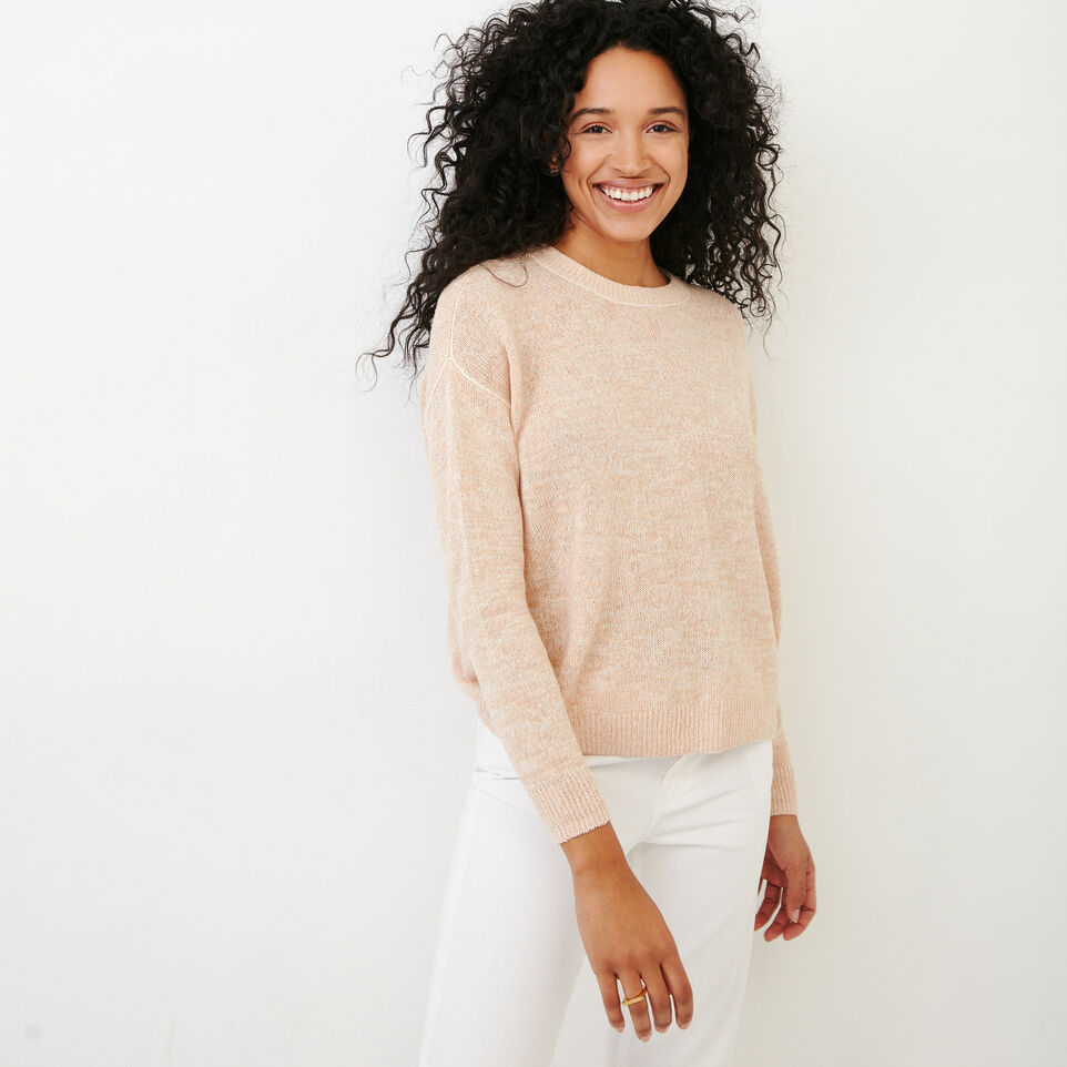 Roots-Women Our Favourite New Arrivals-Tathlina Crew Sweater-Dusty Peach Melba-A