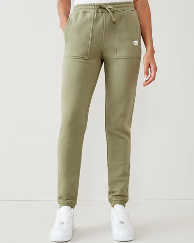 Roots-Women Bottoms-Spruce Slim Sweatpant-Thyme-A