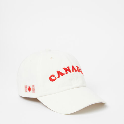 Roots-Clearance Men-Canada Arch Baseball Cap-White-A