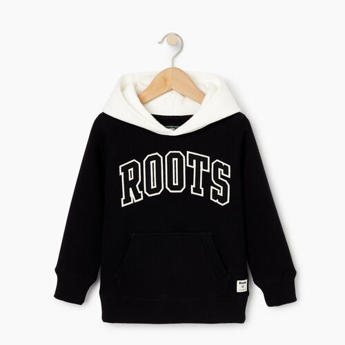 Roots-Kids Our Favourite New Arrivals-Toddler 2.0 Colourblock Raglan Hoody-Black-A