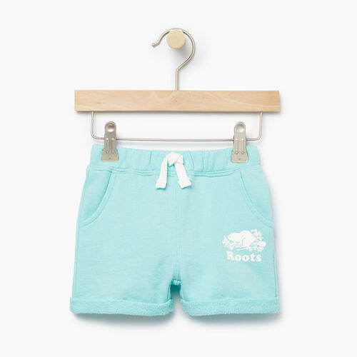 Roots-Clearance Kids-Baby Roots Beach Short-Aruba Blue-A