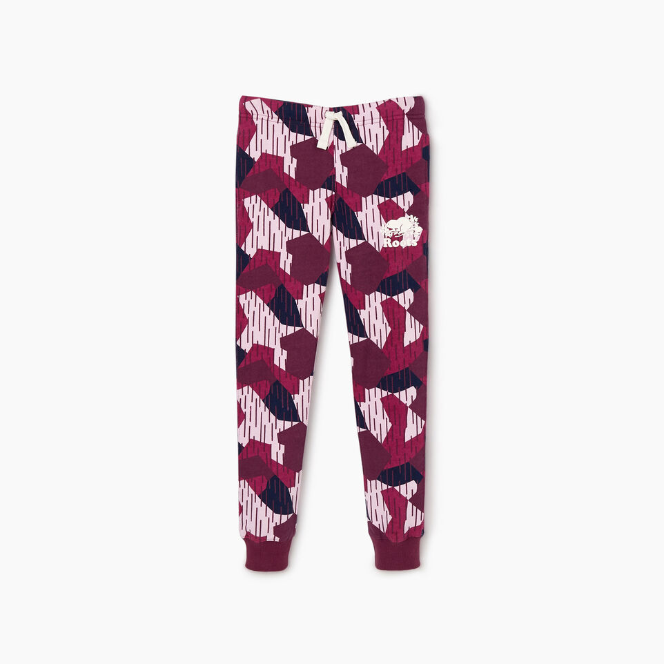 Roots-Kids New Arrivals-Girls Camo Sweatpant-Camo Print-A