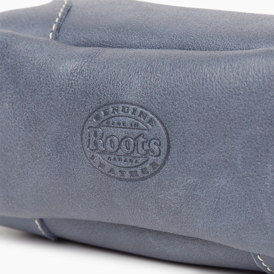 Roots-Leather New Arrivals-Small Banff Pouch Tribe-Navy-D