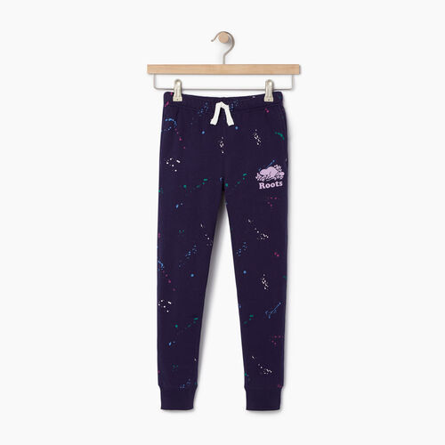Roots-Clearance Kids-Girls Splatter Sweatpant-Eclipse-A