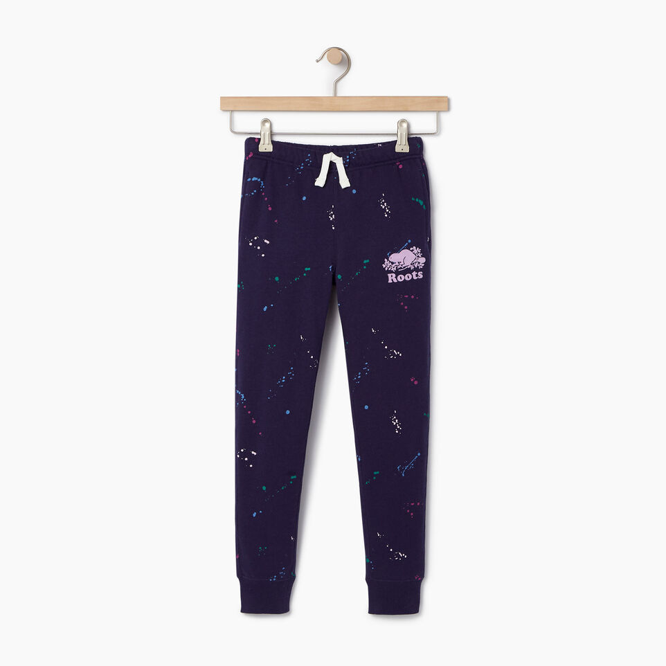 Roots-Kids Our Favourite New Arrivals-Girls Splatter Sweatpant-Eclipse-A