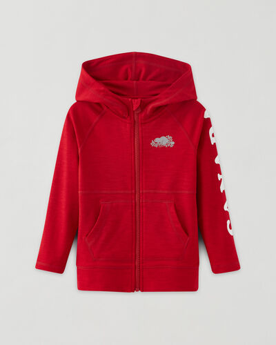 Roots-Kids Toddler Girls-Toddler Lola Active Full Zip Hoody-Sage Red-A