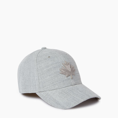Roots-Men Our Favourite New Arrivals-Modern Leaf Baseball Cap-Grey Mix-A