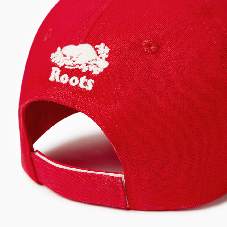 Roots-Clearance Kids-Kids Canada Baseball Cap-Red-E