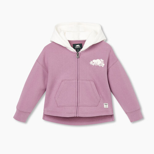 Roots-Kids Tops-Toddler Remix Full Zip Hoody-Valerian-A