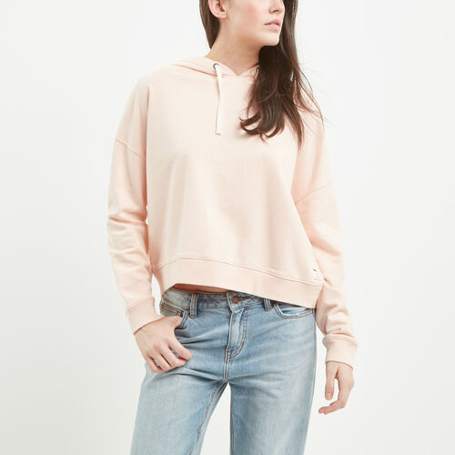 Roots-Sale Over 40% Off-Embroidery Pullover Hoody-Pale Blush-A