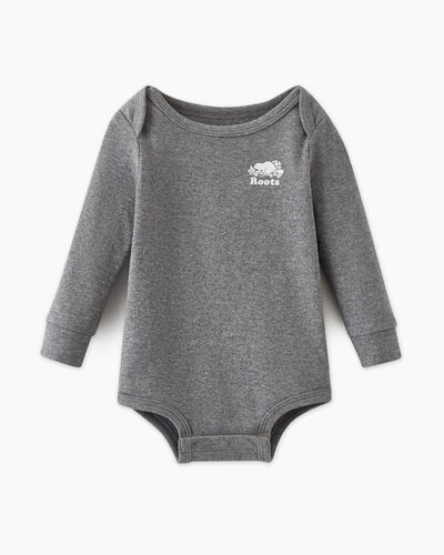 Roots-Kids Baby's First-Baby's First Bodysuit-Salt & Pepper-A