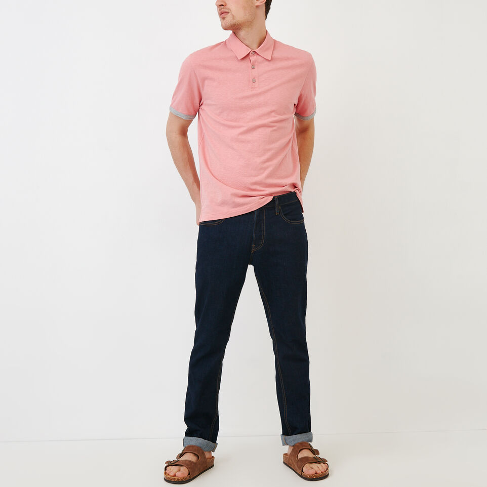Roots-Men Our Favourite New Arrivals-Slub Jersey Polo-Sunset Apricot-B