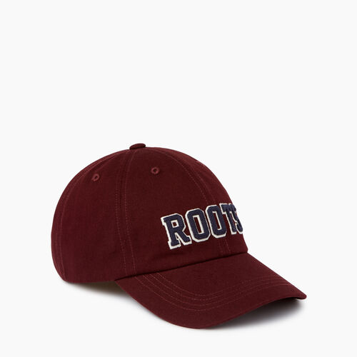 Roots-Men Accessories-Varsity Baseball Cap-Crimson-A