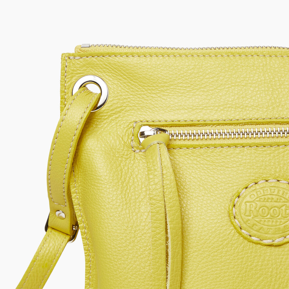 Roots-Leather  Handcrafted By Us Categories-Festival Bag-Yellow-E