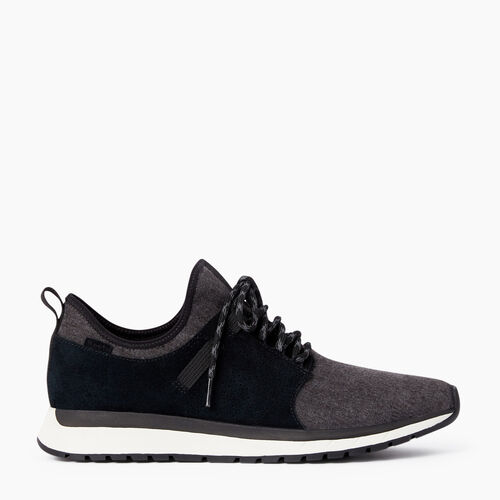 Roots-Footwear Men's Footwear-Mens Rideau Low Sneaker-Black-A