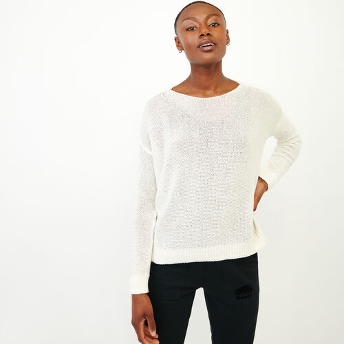 Roots-Women Sweaters & Cardigans-Hillsview Pullover Sweater-Ivory-A