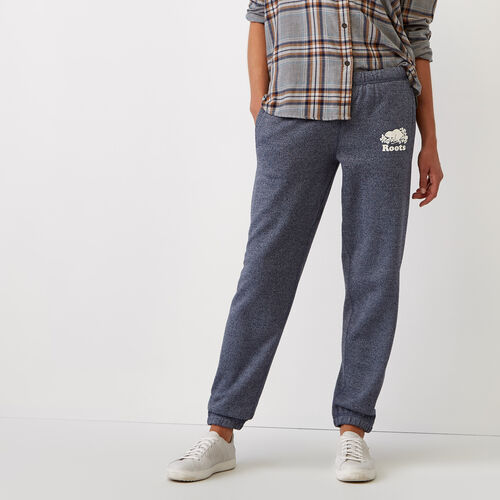 Roots-Women Categories-Cooper Beaver Original Sweatpant-Navy Blazer Pepper-A