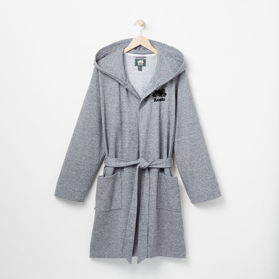 Roots-Men Our Favourite New Arrivals-Roots Salt and Pepper Hooded Robe-Salt & Pepper-A