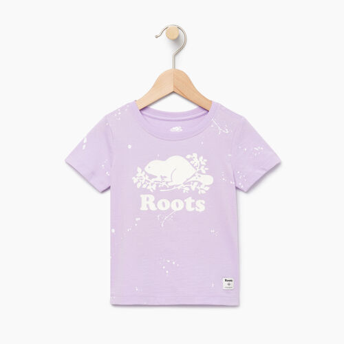 Roots-Clearance Kids-Toddler Splatter Aop T-shirt-Lavendula-A