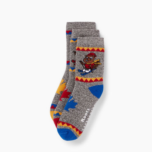 Roots-Kids Accessories-Toddler Buddy Sock 3 Pack-Active Blue-A