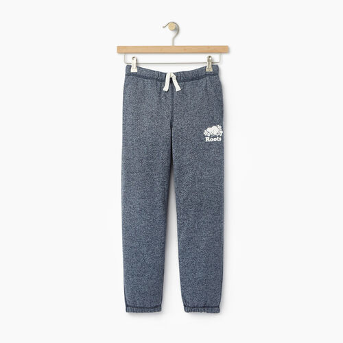 Roots-Clearance Kids-Boys Original Sweatpant-Navy Blazer Pepper-A