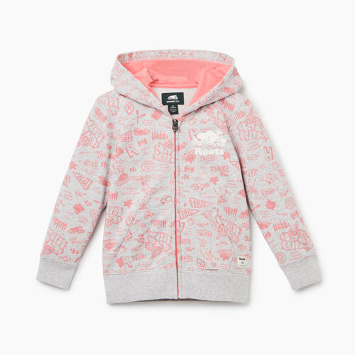 Roots-Kids Tops-Toddler Camp Full Zip Hoody-Snowy Ice Mix-A